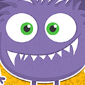 Daily Vector 197 - Purple monster