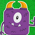Daily Vector 255 - Purple monster