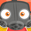 Daily Vector 605 - Kid in gas mask