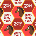 Chinese New Year Horse Pattern